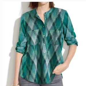 Madewell Wellspring Tunic Popover Top M